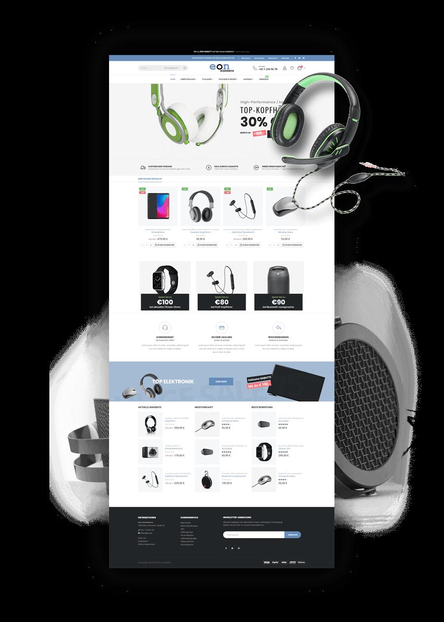 Referenzbild Online-Shop